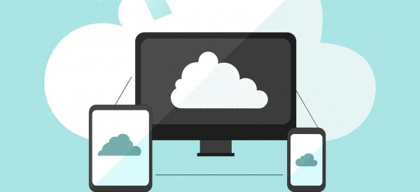 Cloud storage infographic doodle hand drawn vector illustration